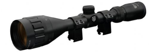 "Nikko Stirling Mountmaster 4-16x50 Parallax AO Rifle Scope with 3/8"" 9mm - 11mm Dovetail Mount Rings"